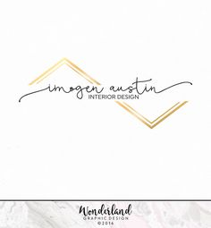 Pre-made Logo, Modern Logo, Black and Gold Logo, Chevron Logo, Logo Design…