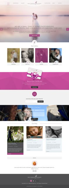 Southern Light Photography - Website Design on Behance