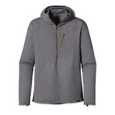 Patagonia Men's Capilene® 4 Baselayer Expedition Weight 1/4 Zip Hoody   Nickel - Tailored Grey X-Dye
