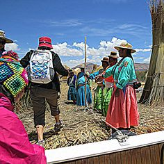 201309250040e01sqiphdr2 - A very friendly welcome on one of the #UrosIslands on lake #Titicaca near #Puno in #Peru. #Holidays #Travel #SouthAmerica