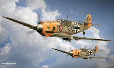 messerschmitt bf 109,  Messerschmitt,  Me-109,  humpbacked free desktop wallpaper in the resolution 1680x1014 — picture №355188