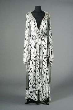 """Silver Cape Dressing Robe by Bob Mackie for Barbra Streisand in """"Funny Lady"""", 1975"""