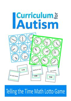 Telling The Time Math Lotto Game for Autism & Special Education