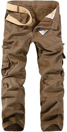 8a7602ace0 Cargohose Herren Freizeithose Kampfhose Arbeitshose Mehrere Tasche, Armee  Grün 1, 44 /Etikette 28
