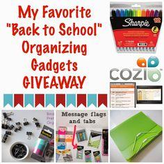 "My Favorite ""Back to School"" Organizing Gadgets Giveaway :: OrganizingMadeFun.com"