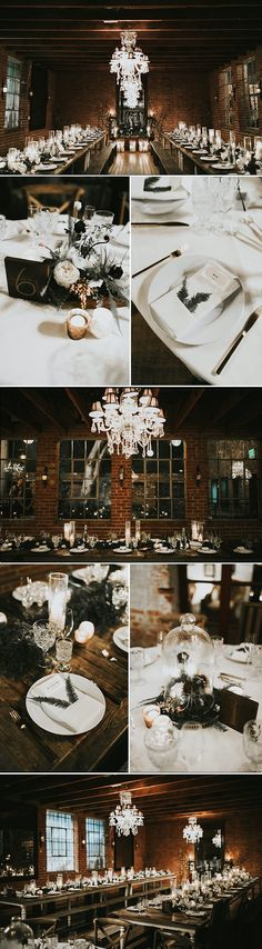 The couple wanted an Old Hollywood with a hint of a rustic feel and it came together perfectly with these simple and sophisticated details | Image by Krista Ashley