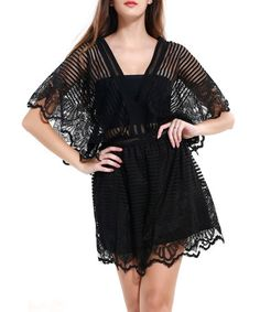 Another great find on #zulily! Black Lace Romper #zulilyfinds