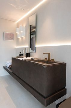 Stone Washbasin. See more inspiration at http://goo.gl/uft4Ik #washbasin #stone…