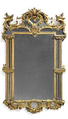 A George II giltwood mirror, Circa 1750 / via Curt DiCamillo