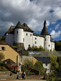 The Feudal Castle In Clervaux Village In Luxembourg Country. .