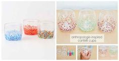 Confetti Cups | 50 DIY Anthropologie Hacks For Every Facet Of Your Life