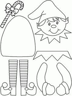 Printable Elf Craft (color, cut, glue) - Lovebugs and Postcards