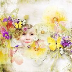 Meadow Butterflies by Et Designs @ scrapbookgraphics