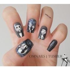 Nightmare before Christmas nails.