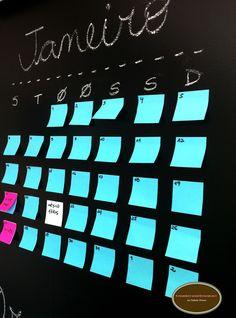Organize sem Frescuras   Rafaela Oliveira » Arquivos » Faça você mesmo- parede de lousa com papel contact