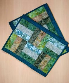 Patchwork Table Runner, Table Runner And Placemats, Table Runner Pattern, Quilted Table Runners, Quilt Placemats, Fall Placemats, Modern Table Runners, Quilted Placemat Patterns, Mug Rug Patterns
