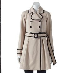 ELLE™ Double-Breasted Trench Coat - Women's