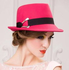 fab1ad82cf7 Handsome fedora hat with hatband for women soft wool hats autumn wear
