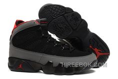 93641649fc7f Mens Air Jordan 9 Charcoal Black Charcoal Red For Sale AWrtwA