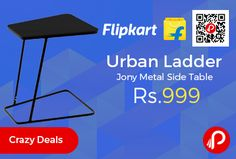 Flipkart #Crazy #Deals is offering 60% off on Urban Ladder Jony Metal Side Table at Rs.999 Only. Width x Height: 437 x 610 mm, Suitable For – Living Room, Pre-assembled Services, 12 month warranty manufacturing defects. Sleek and lightweight, the Jony laptop table is designed for the new-age workaholic. Super compact, it takes up little room and is easy to put away.   http://www.paisebachaoindia.com/urban-ladder-jony-metal-side-table-at-rs-999-only-flipkart/