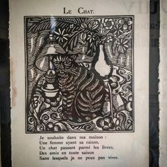 """Guillaume #Apollinaire / Raoul Dufy """"Le #Bestiaire ou Cortège d'#Orphée"""" Paris Éditions de la Sirène 1929 collection particulière #détail du #chat.  #Expo """"#Dufy #tissus & créations"""" (3/10) #musée des #beauxarts de #Carcassonne  #aude #audetourisme #jaimelaude #LanguedocRoussillon #sud #suddefrance #southfrance #igersfrance #ig_france #exhibition #museum #exposition #tissu #RaoulDufy #GuillaumeApollinaire #cat"""