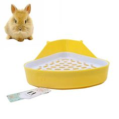 Mkono Triangle Potty Trainer Corner Litter Toilet for Small Animal Hamster Gerbil Bunny Chinchilla Guinea Pig FerretRandom Color *** Read more reviews of the product by visiting the link on the image.