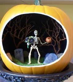 I lied, he isn't really for a swap on Swap-Bot, but I wanted to share with my SB pals. It's for my 12 year old son. Made from a hollow craft pumpkin from Michaels - see supplies used in other photo.