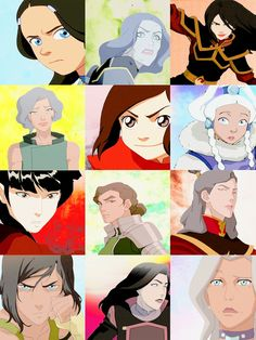 some of the lovely ladies of the avatar franchise :)))