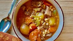 Nothing beats a hearty soup on a cold day! Slow Cooker Times, Best Slow Cooker, Slow Cooker Pork, Slow Cooker Recipes, New Recipes, Soup Recipes, How To Cook Barley, Beef Barley Soup, Eating Vegetables