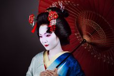 image of geisha with parasol
