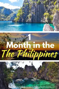 One Month in the Philippines!  The best travel itinerary for exploring one of the most beautiful countries in the world!  #Philippines #Itinerary #Palawan #Coron #ElNido #Boracay #SouthEastAsia #TravelItinerary