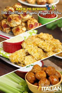 Back to School - Bite Size Meals, Poppers, Nuggets and Bites - #Recipe from @SlowRoasted