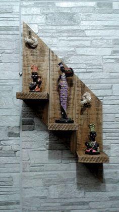 Wooden Pallet Projects, Wooden Pallet Furniture, Woodworking Projects Diy, Wooden Pallets, Wooden Diy, Rustic Wall Shelves, Wall Shelves Design, Open Shelves, House Plants Decor