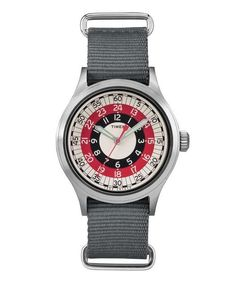 The Mod Watch. A new Timex based on a bullseye design discovered in their archives. Exclusive to Todd Snyder.