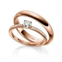 Wedding rings / wedding rings from - Modern Classic Wedding Rings, Wedding Rings Simple, Wedding Rings Rose Gold, Stein Gold, Circle Engagement Rings, Diamond Jewelry, Jewelry Rings, Couple Bands, Wedding Ring Designs