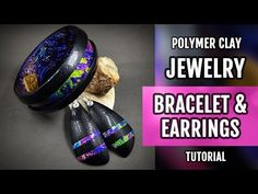 DIY ! Lisa Pavelka FOILS & Polymer Clay PREMO Bracelet and Earrings. HOW to Make! - YouTube
