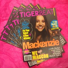 Mackenzie on the cover of Tiger Beat