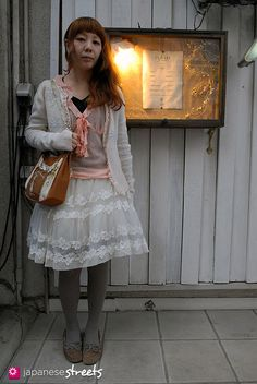 A great example of super-girly #style: Bows, Lace, Frills and a Softness you can't ignore.