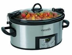 Crock-Pot 6-Quart Programmable Cook & Carry Slow Cooker with Digital Timer, Stainless Steel