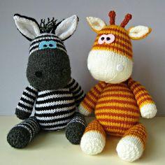 Gerry Giraffe and Ziggy Zebra