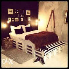 Love it ... Toddler Bed, Diy Projects, Furniture, Pallets, Diy Ideas, Home Decor, Bedroom, Child Bed, Decoration Home