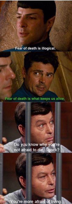 Star Trek bones and Spock death