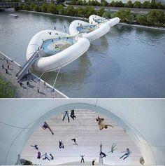 Coolest bridge ever! In Paris