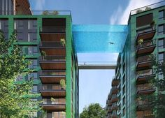 """London's """"Sky Pool"""" Looks Like You're Swimming in the Sky 