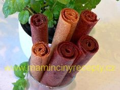 Sušené ovocné placky Fruit Roll Ups, Sausage, Vegetarian Recipes, Health Fitness, Food And Drink, Homemade, Vegan, Drinks, Apollo