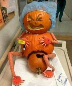 Pregnant Pumpkin Giving Birth, Lmao