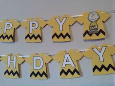 Charlie Brown Birthday Banner, Peanuts Birthday Banner, Charlie Brown Decor, Charlie Brown Party, Peanuts Gang, Peanuts Party, Snoopy