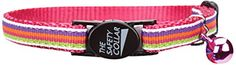 Savvy Tabby Nylon with Ribbon Cat Collar, 3/8-Inch, Pink Stripe >>> New and awesome cat product awaits you, Read it now  : Cat Collar, Harness and Leash