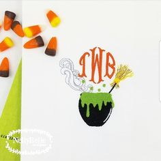 Round Circle Fish Tail Monogram Embroidery Fonts Halloween Magic, Monograms, Embroidery, Design, Needlepoint, Monogram, Crewel Embroidery, Embroidery Stitches