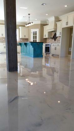 Pearl epoxy floor